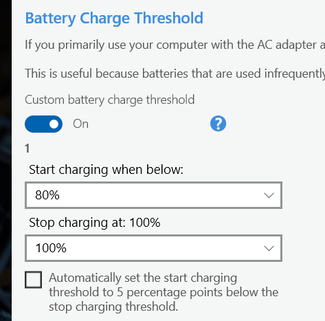 ThinkPad battery charging thresholds - LenardGunda com