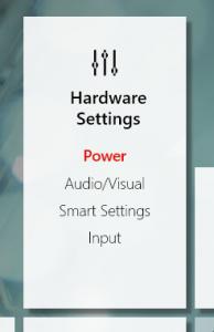 Lenovo Vantage - Power options