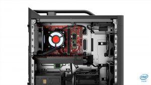 Lenovo Legion T730 - Side panel with GPU