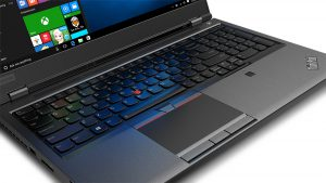 ThinkPad P52 keyboard and touchpad