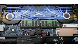 ThinkPad X1 Extreme cooling system and memory slots