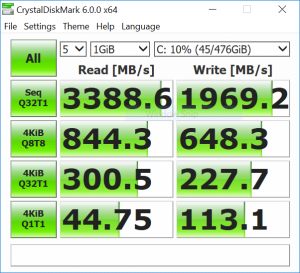 YOGA S730 Crystaldiskmark6