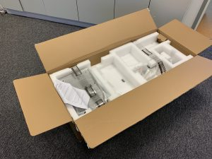 ThinkVision P44w box open