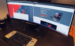 ThinkVision P44w in action